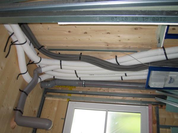 Lüftungsverteilung der Ab- und Zuluft über Rohrleitungen